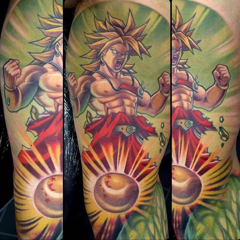 Broly Tattoo by Kegan Hawkins