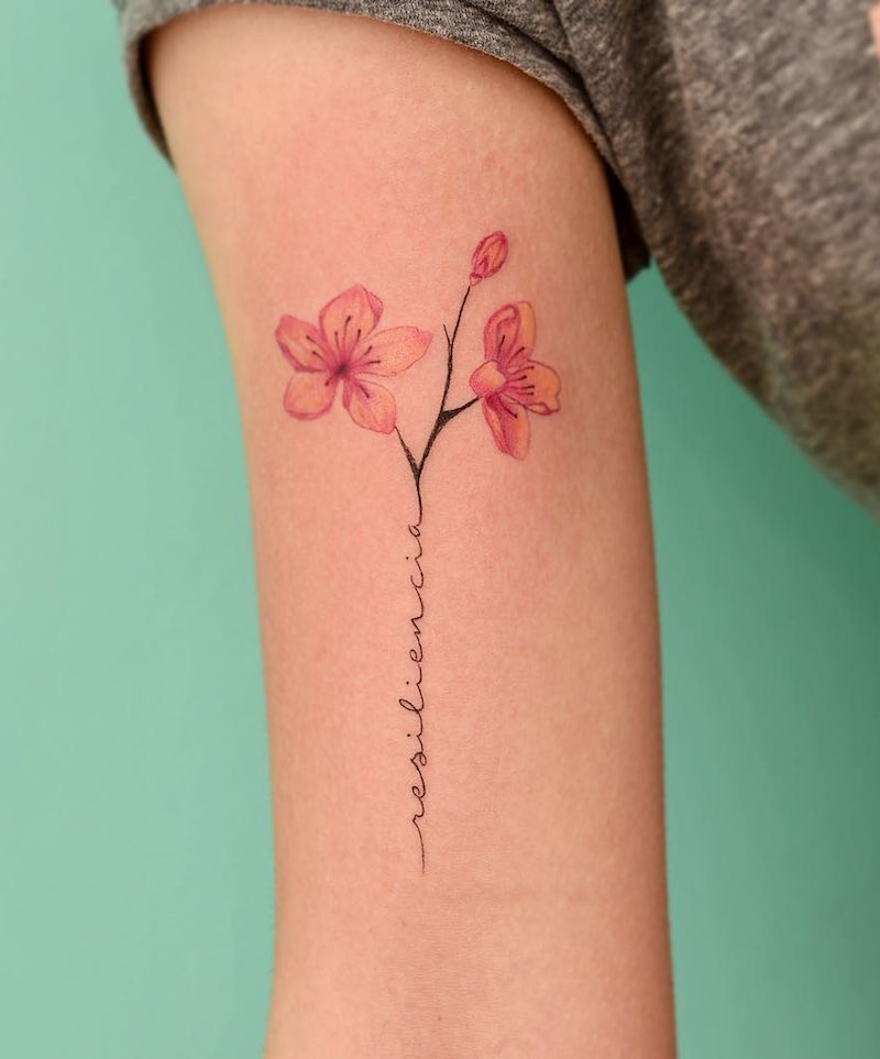 Cherry Blossom Tattoo by Julian Martinez