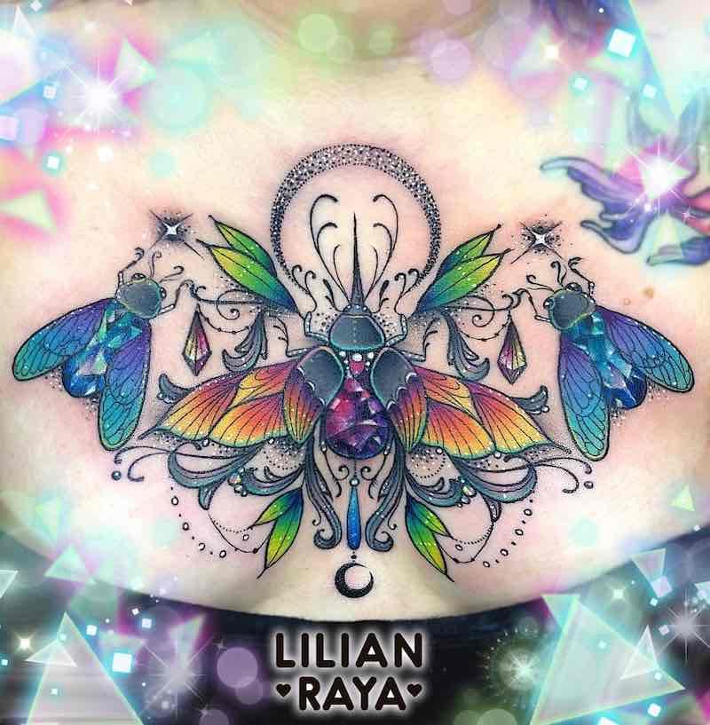 Chest Piece Tattoo by Lilian Raya