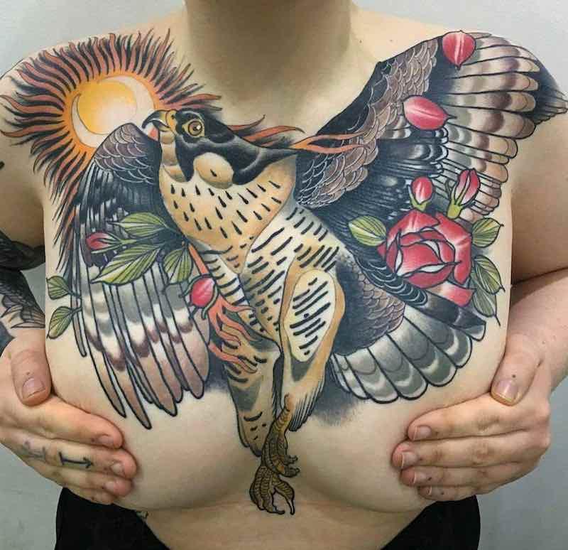 Chest Piece Tattoo by Matt Adamson