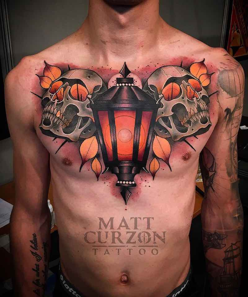 Chest Piece Tattoo by Matt Curzon