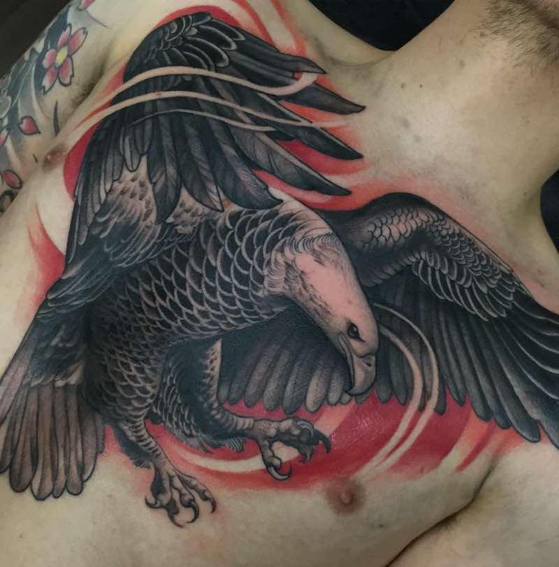 Chest Piece Tattoo by Mr Killian Moon