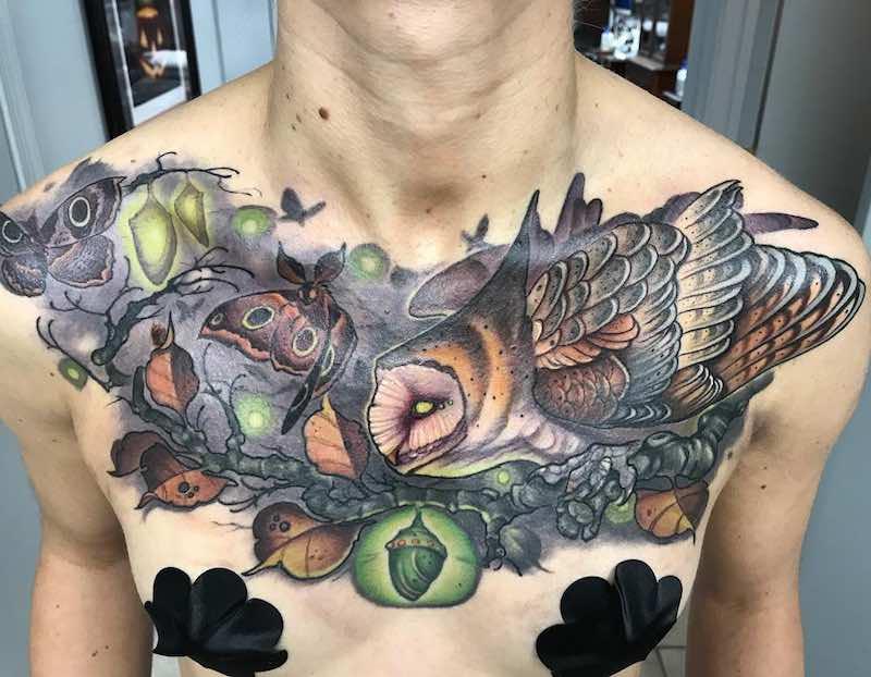 Chest Piece Tattoo by William Volz