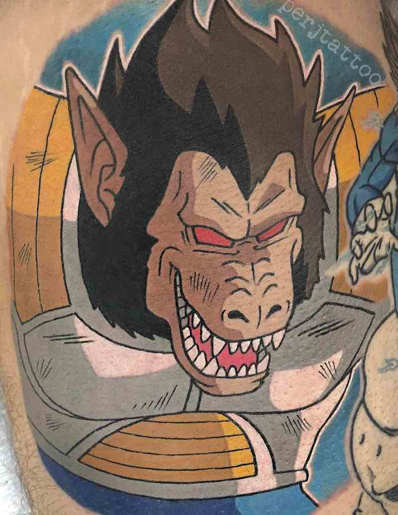 Dragon Ball Z Great Ape Tattoo by Adam Perjatel
