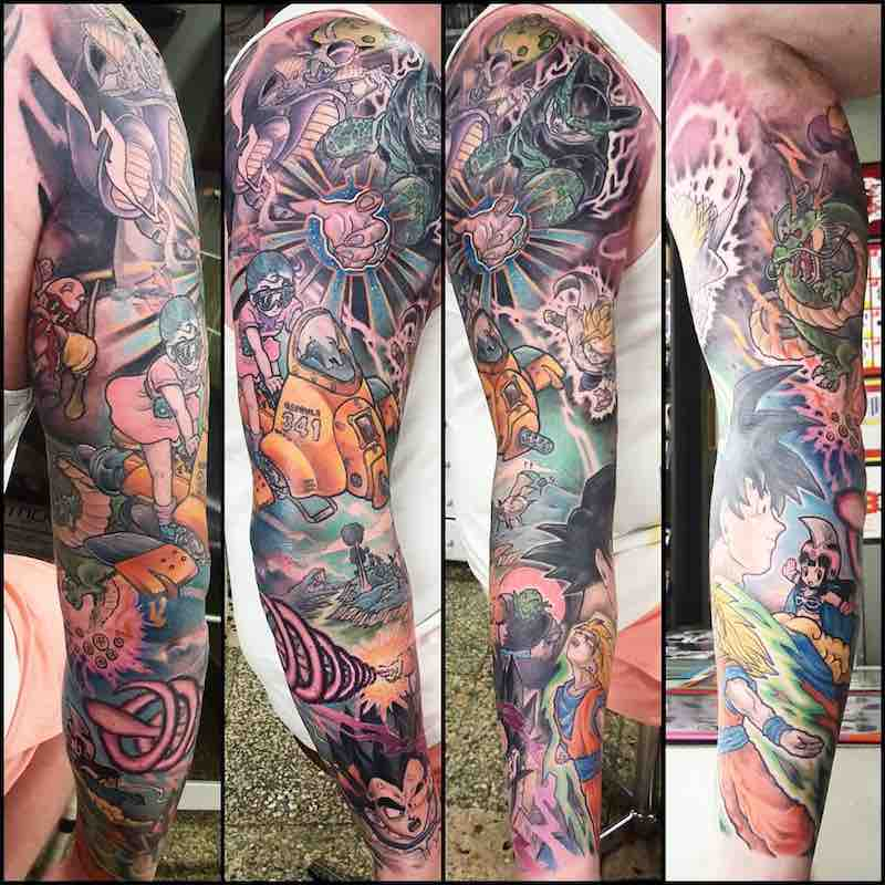 Dragon Ball Z Tattoo Sleeve by Godfrey Atlantis