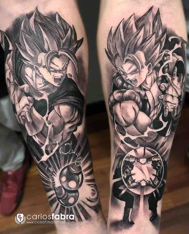 Dragon Ball Z Tattoo by Carlos Fabra
