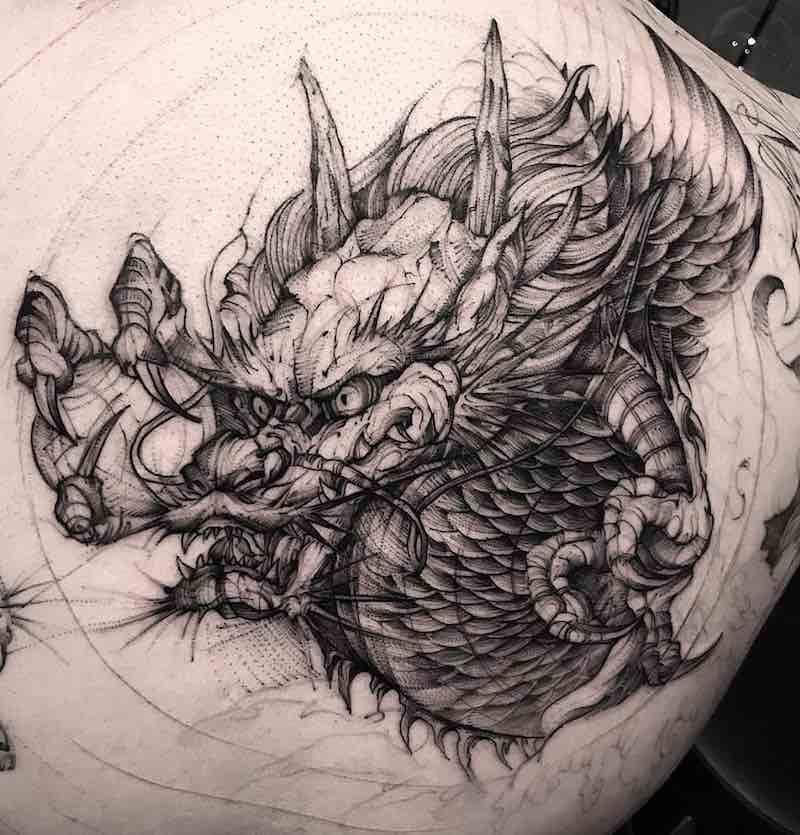 Dragon Tattoo by Bk Tattooer