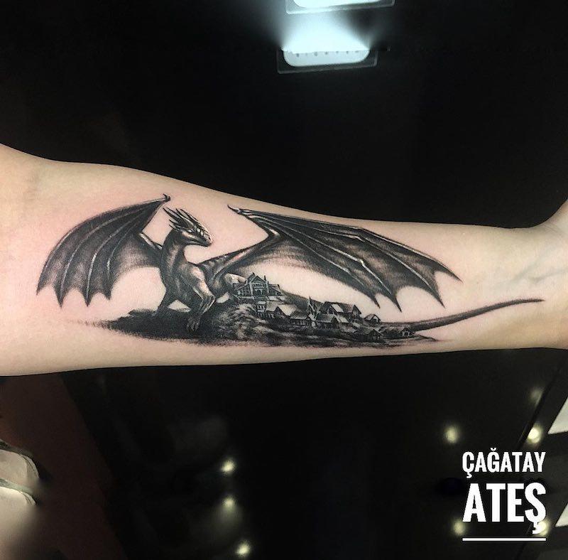 Dragon Tattoo by Cagatay Ates