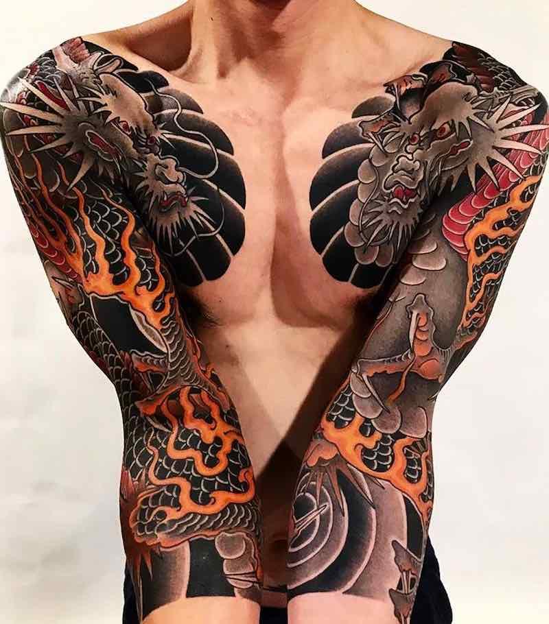 Dragon Tattoo by Diau Bo