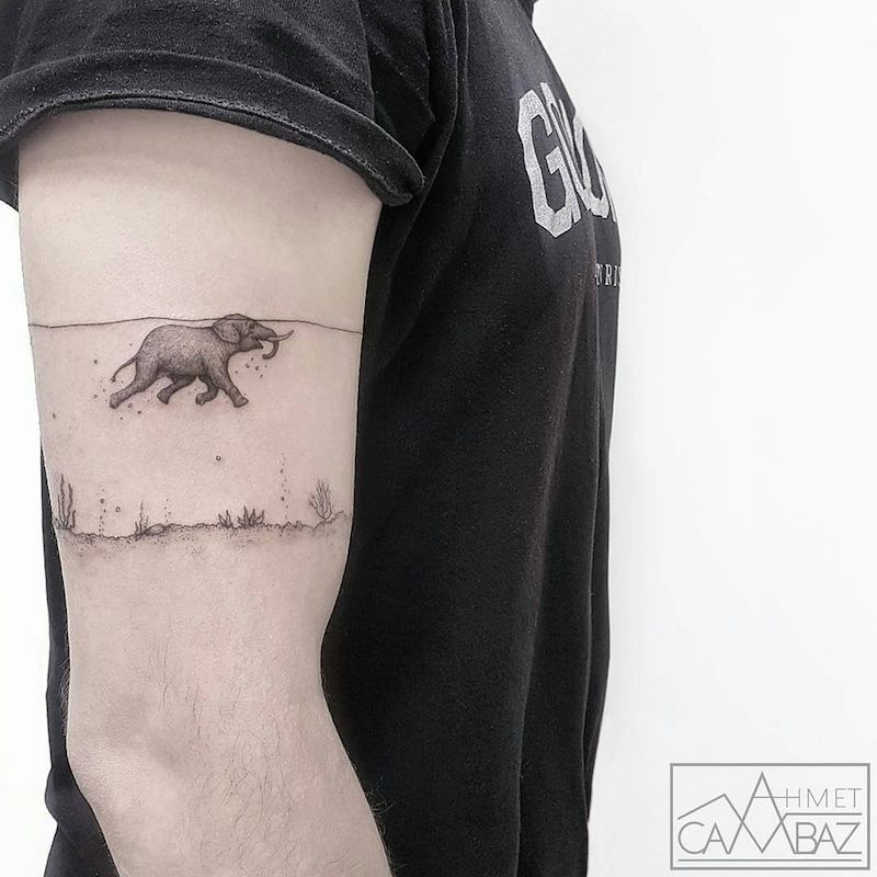 Elephant Tattoo by Ahmet Cambaz
