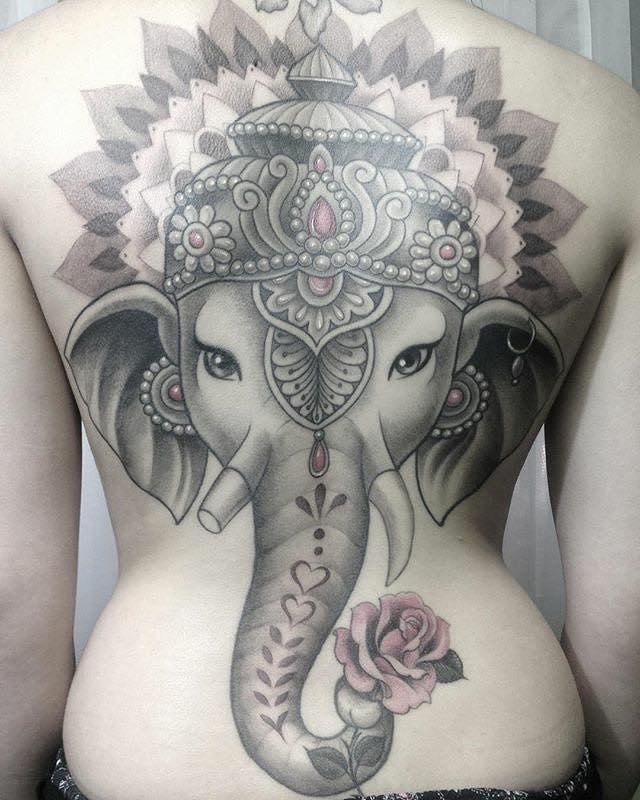 Elephant Tattoo by Alex Nuñez