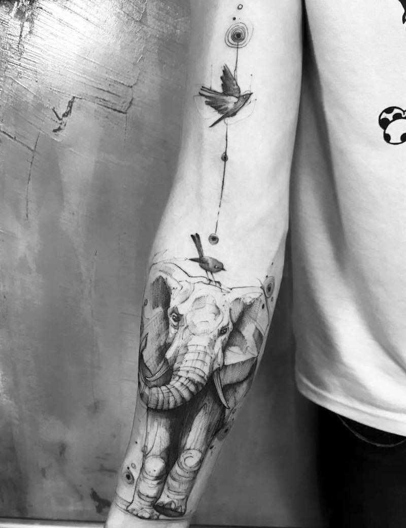 Elephant Tattoo by Feliphe Veiga