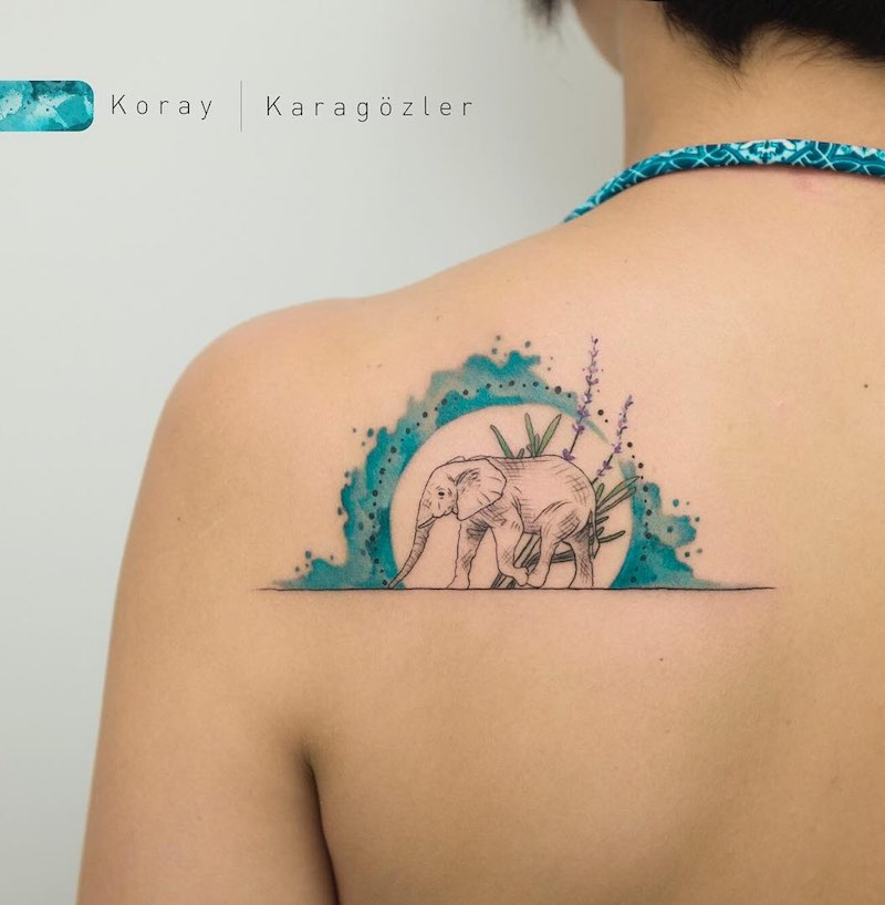 Elephant Tattoo by Koray Karagozler