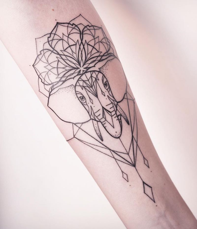 Elephant Tattoo by Melina Wendlandt