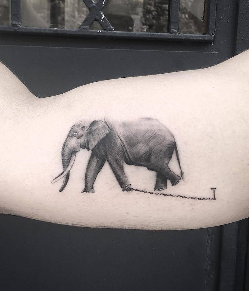 Elephant Tattoo by Resul Odabas