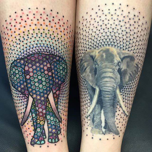Elephant Tattoo by Tomas Garcia