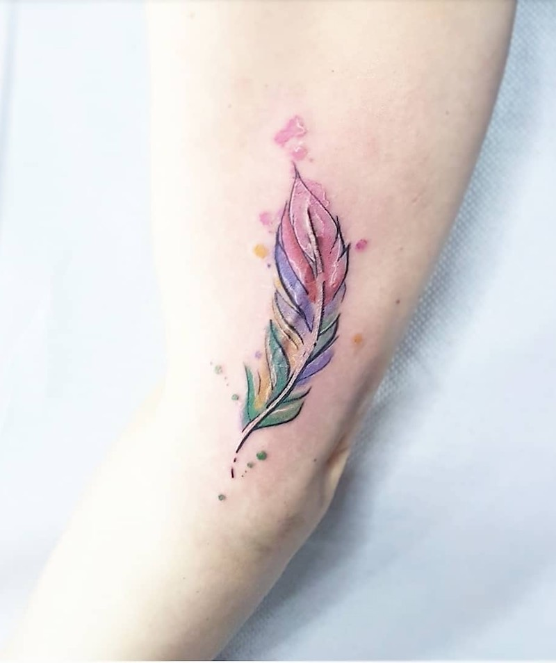 Feather Tattoo by Dream Ink Color
