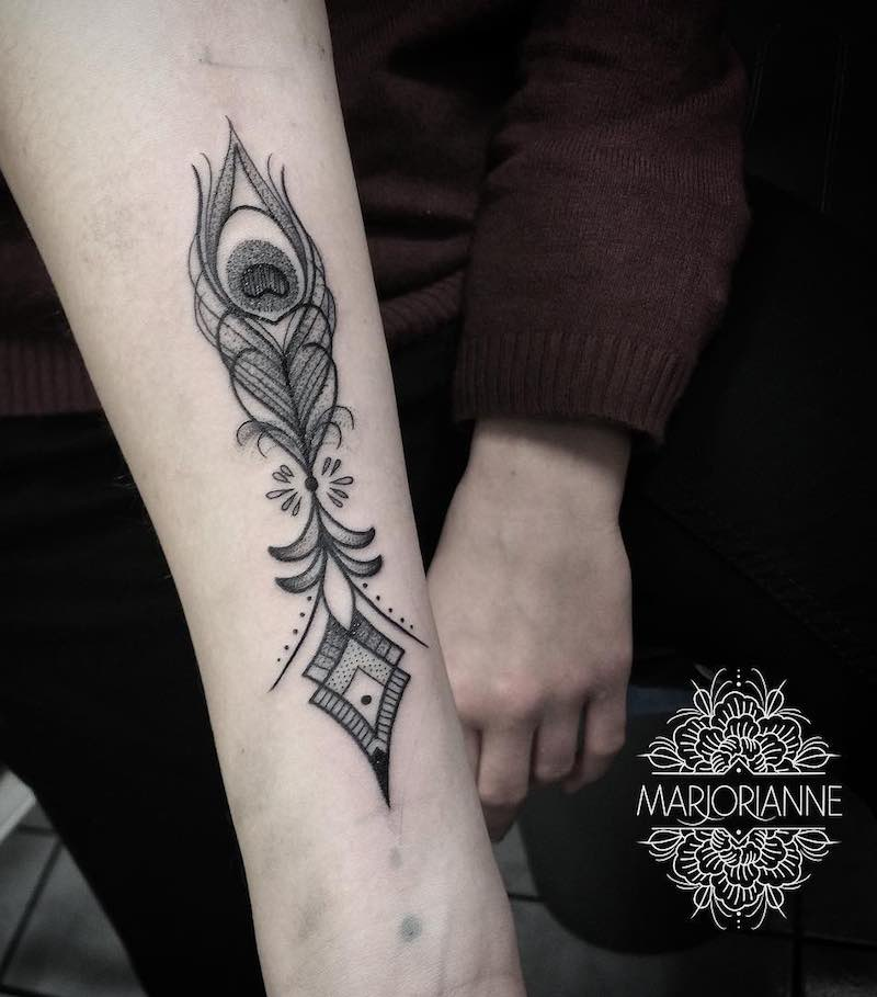 Feather Tattoo by Orianne-Marjorie Heneman