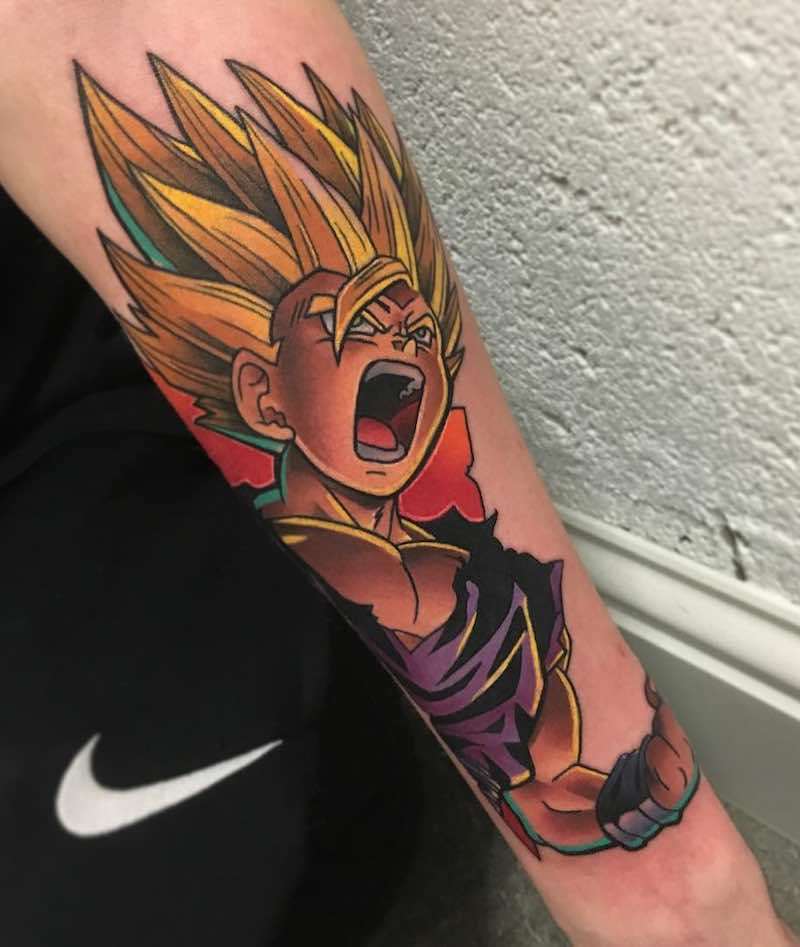 Gohan Tattoo by Andy Walker -