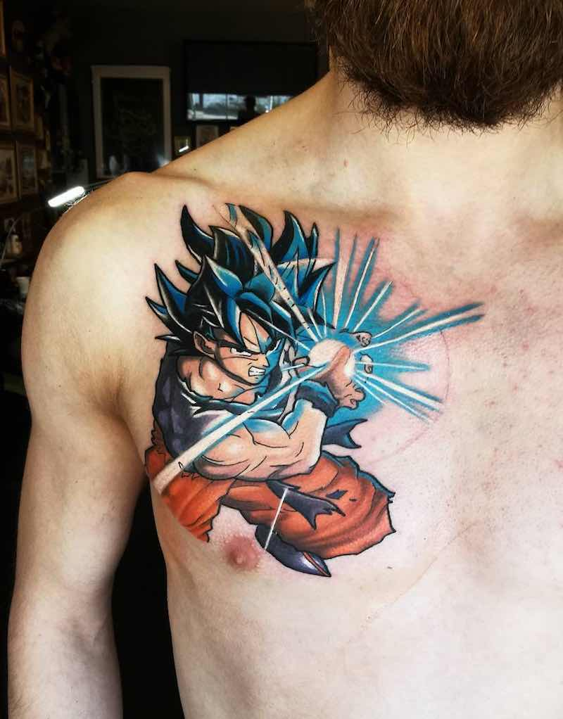 Goku Tattoo by Aaron Medare