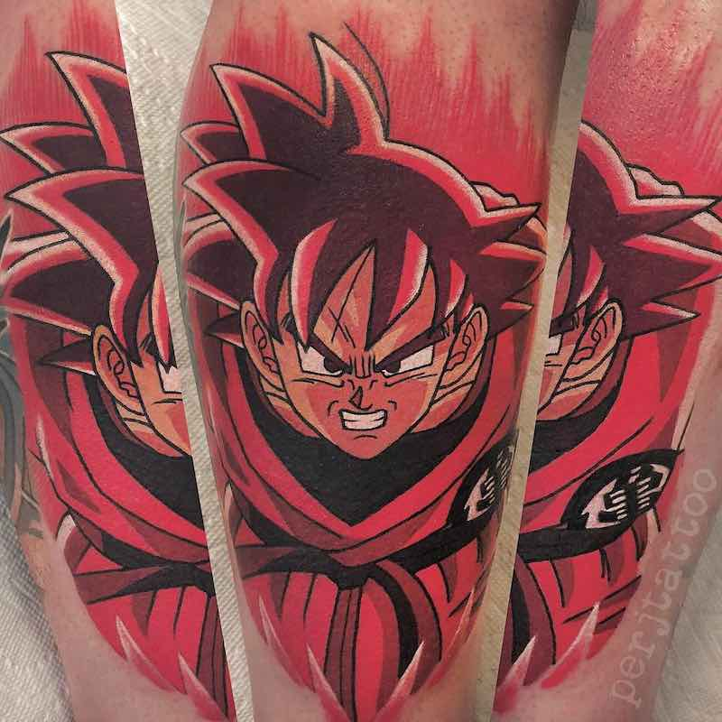 Goku Tattoo by Adam Perjatel -