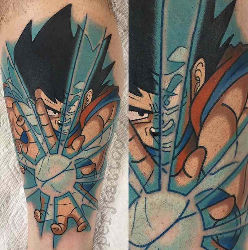Goku Tattoo by Adam Perjatel