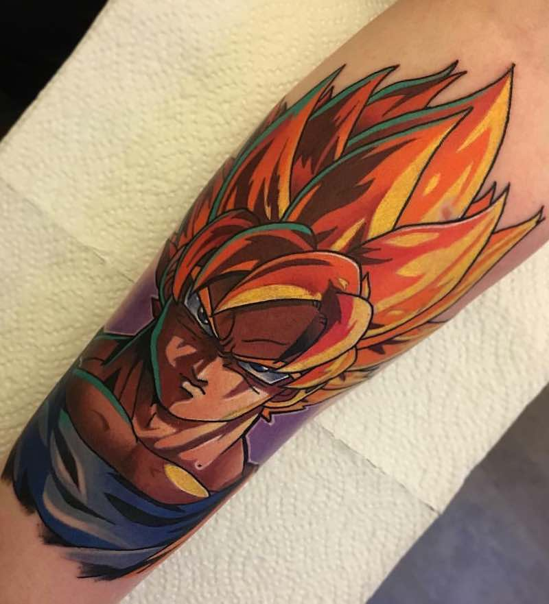 Goku Tattoo by Andy Walker