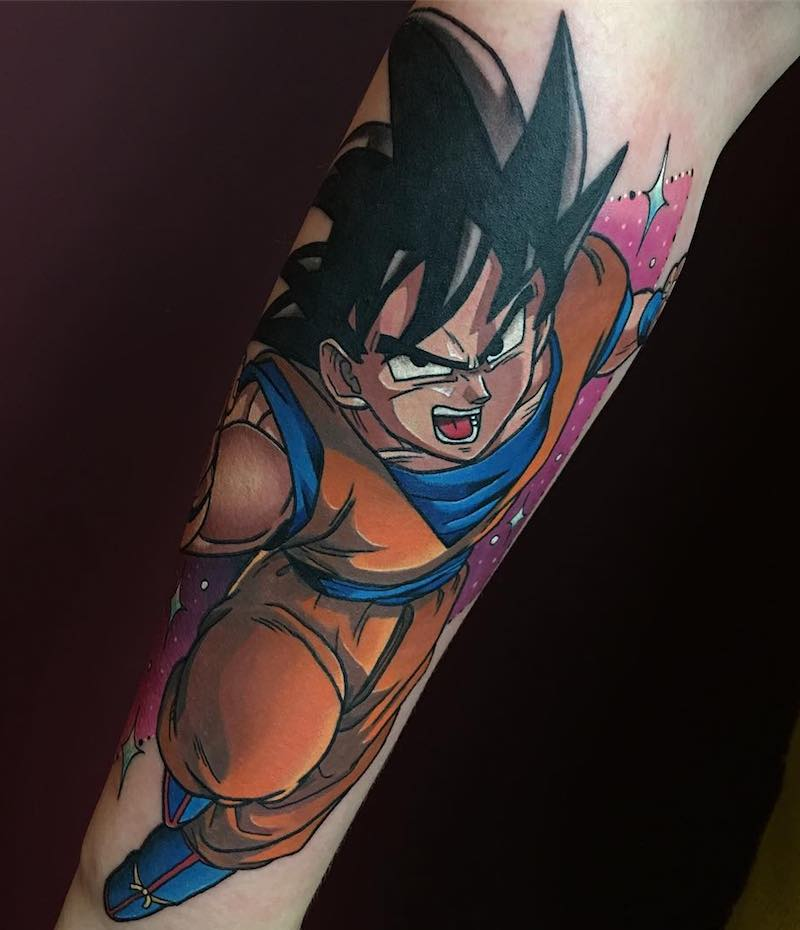 Goku Tattoo by Dane Grannon-