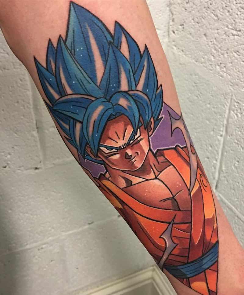 Goku Tattoo by Dane Grannon -