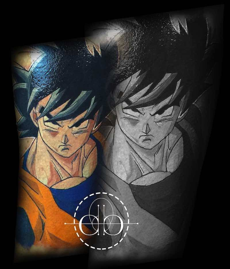 Goku Tattoo by David Barrera