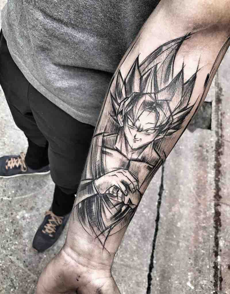 Goku Tattoo by Inez Janiak