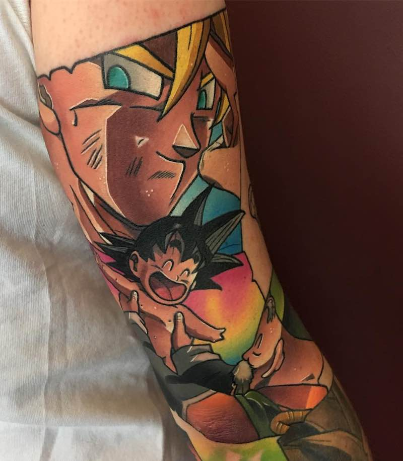 Grandpa and Goku Tattoo by Dane Grannon