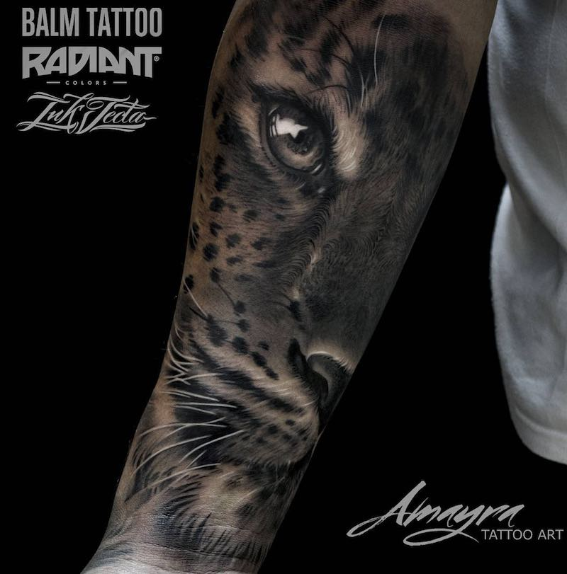 Jaguar Tattoo by Amayra Tattoo