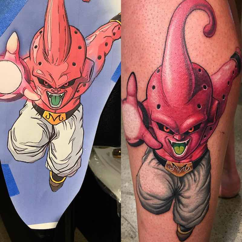 Kid Buu Tattoo by Kegan Hawkins