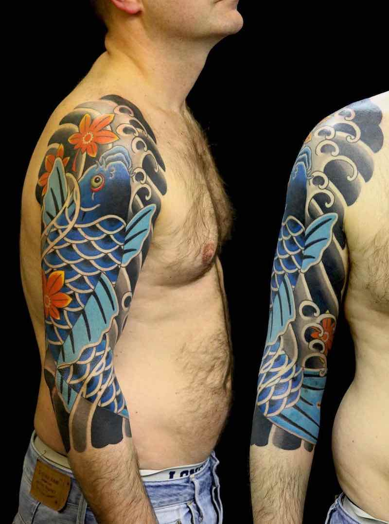 Koi Tattoo by Luca Ortis