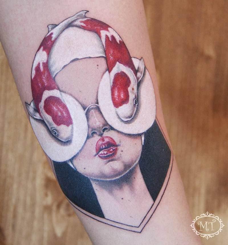 Koi Tattoo by Melek Tastekin