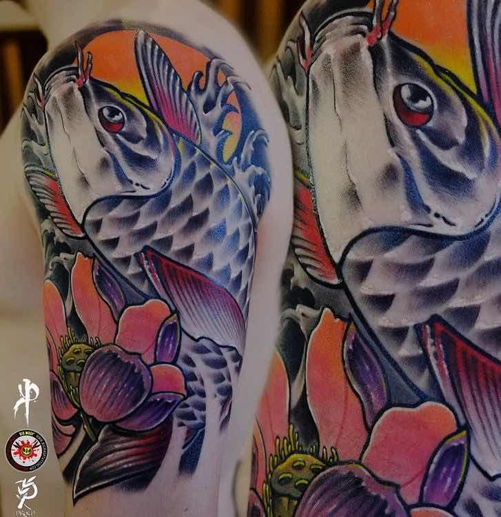 Koi Tattoo by Pavel Zubkov