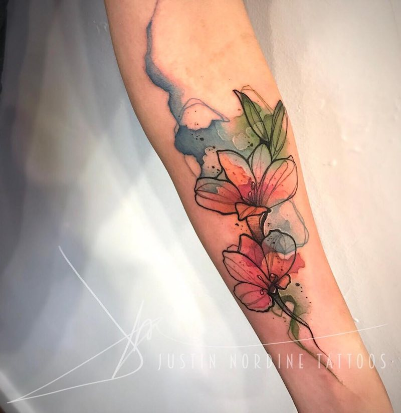 Lily Tattoo by Justin Nordine