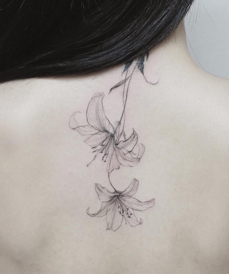 Lily Tattoo by Tattooist Flower