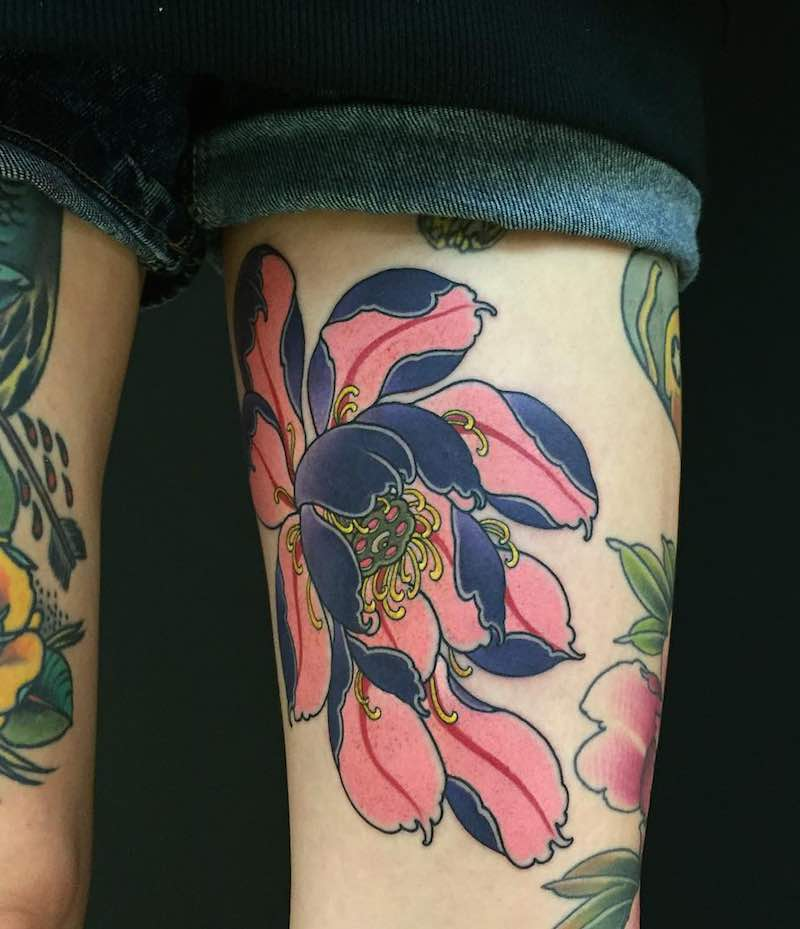 Lotus Tattoo by Sasha Unisex