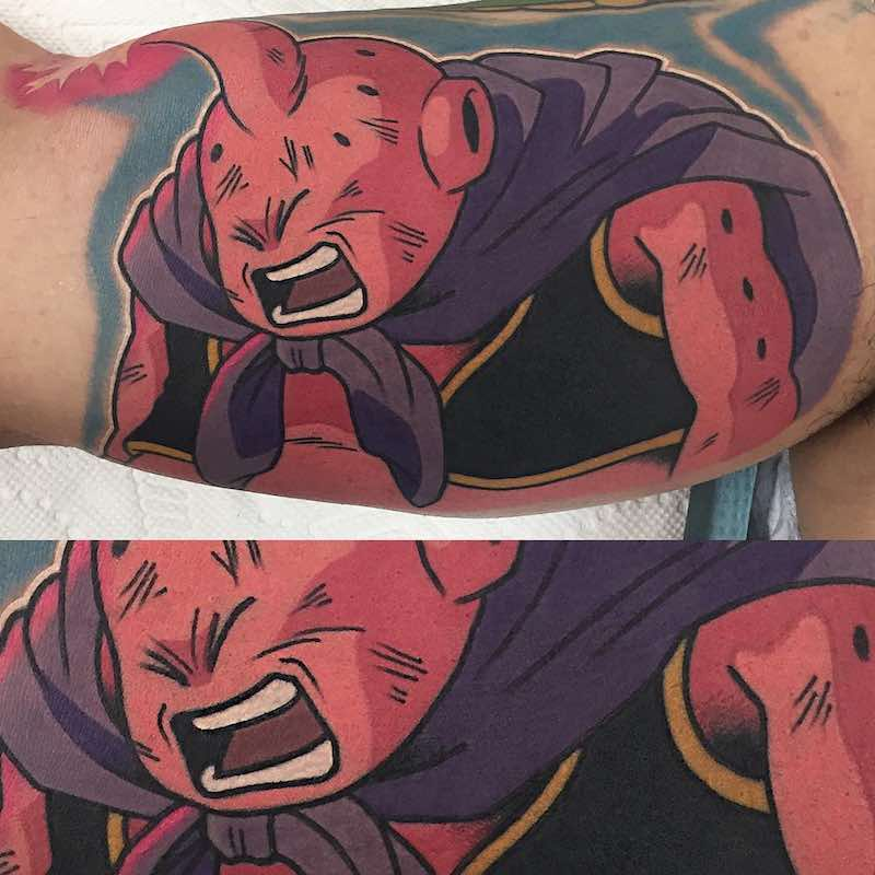 Majin Buu Tattoo by Adam Perjatel