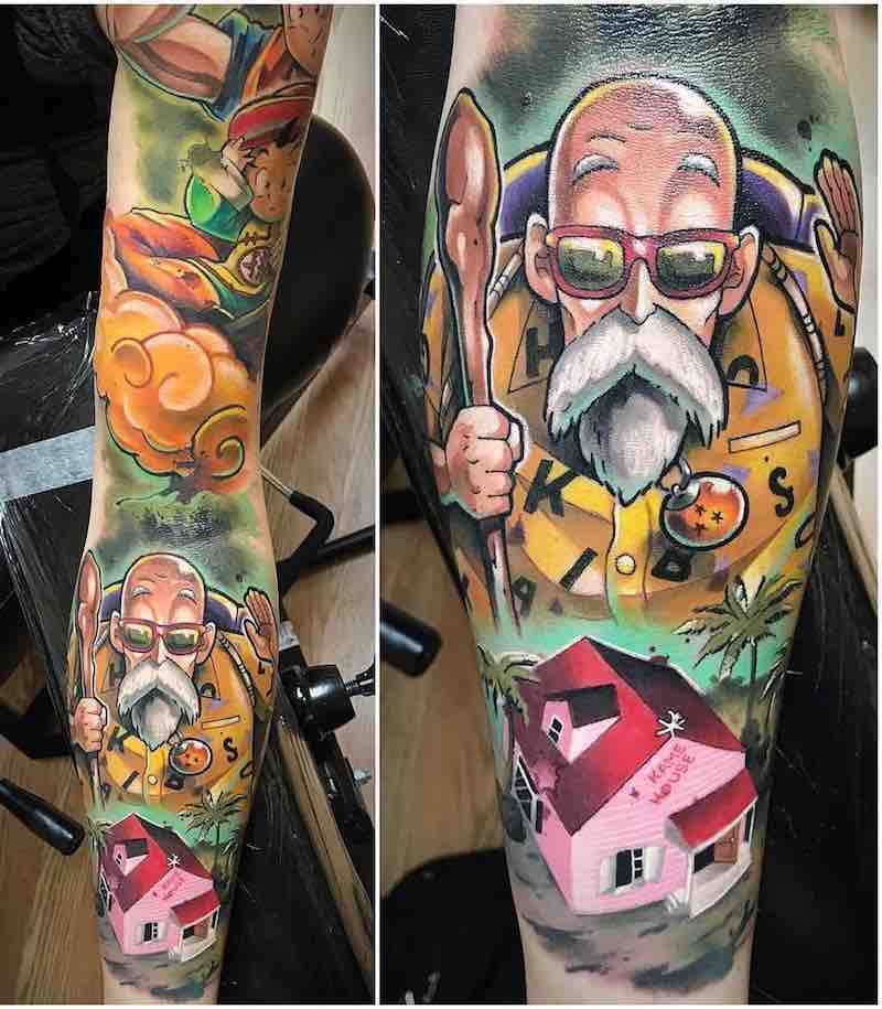 Master Roshi Tattoo by Joseph Matisa