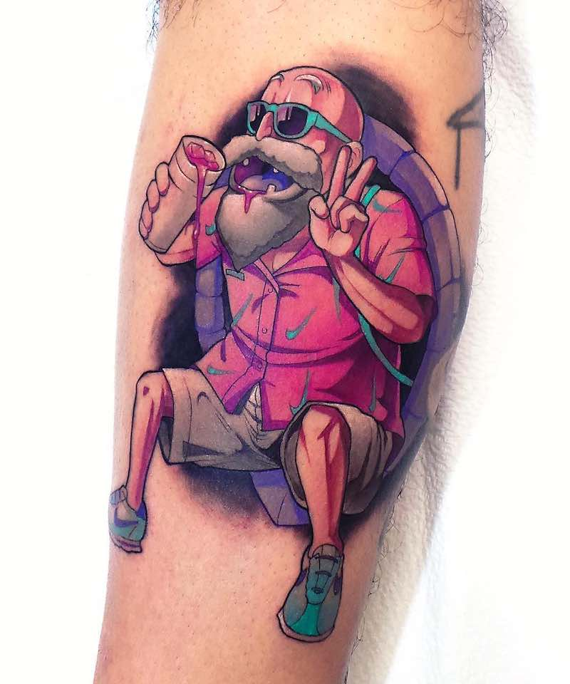 Master Roshi Tattoo by Steven Compton