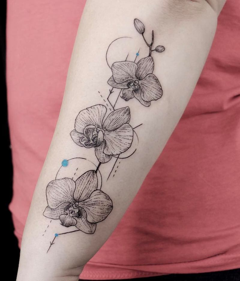 Orchid Tattoo by Emrah Ozhan