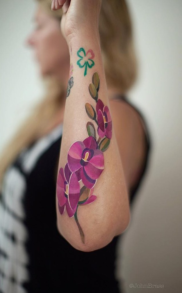 Orchid Tattoo by Ivan Androsov