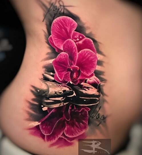 Orchid Tattoo by Randy Engelhard