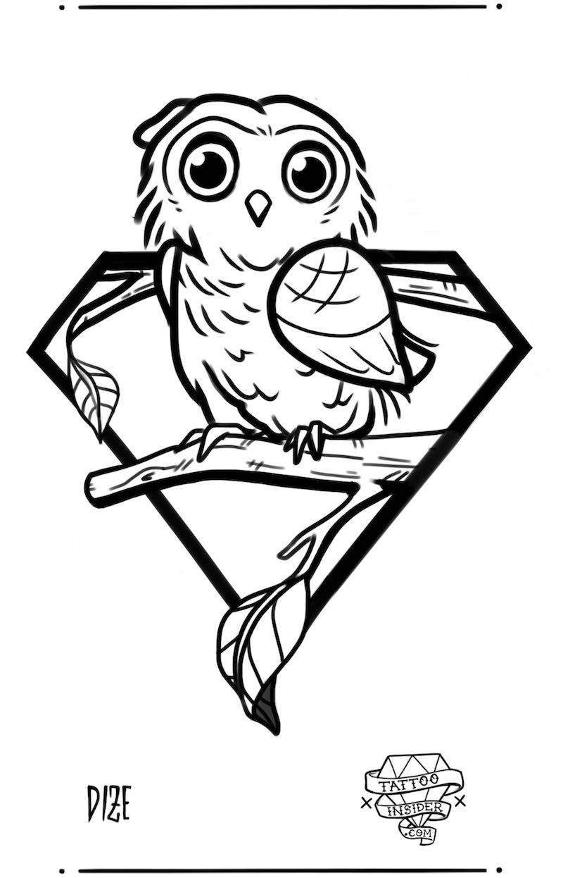 Owl Tattoo Design 1
