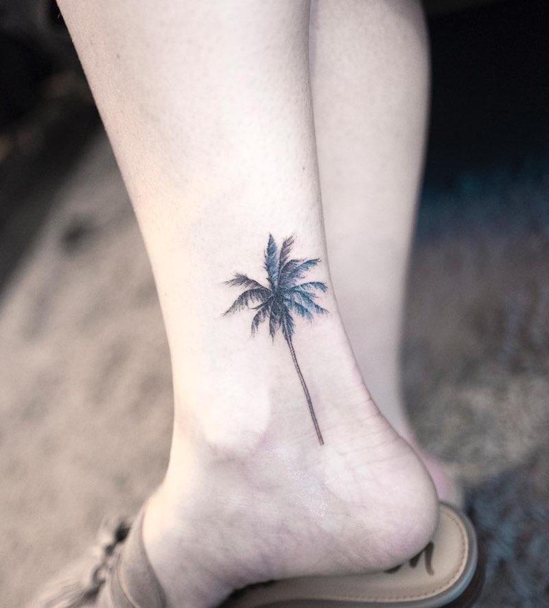 Palm Tree Tattoo by Hongdam
