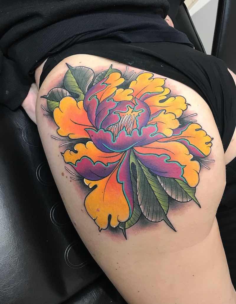 Peony Tattoo by Marta Pari
