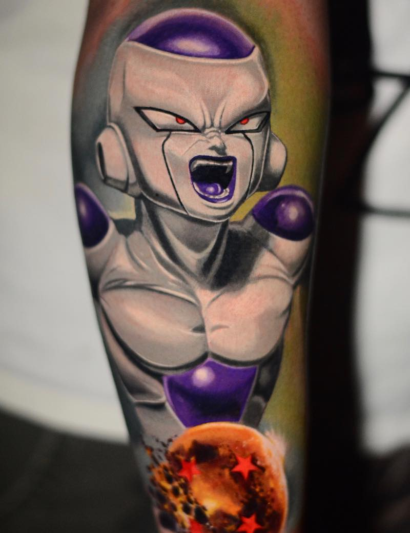 Realistic Frieza Tattoo by Ben Ochoa